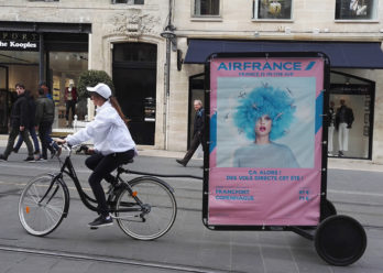 Air France Affichage mobile Keemia Bordeaux Agence marketing local en region Aquitaine