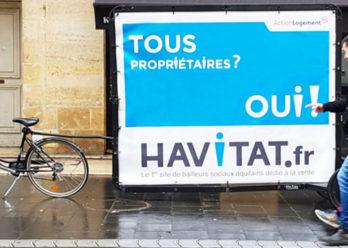 Havitat affichage mobile guerilla marketing Keemia Bordeaux Agence marketing local en region Aquitaine