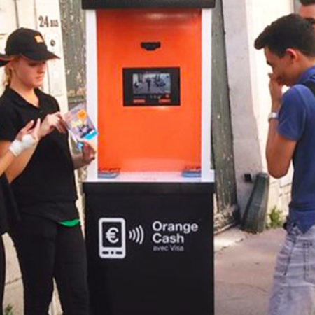Orange street marketing animation Keemia Bordeaux Agence marketing local en région Aquitaine