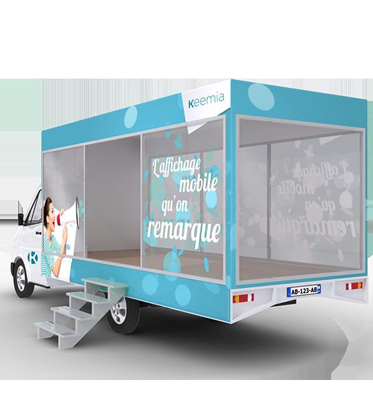 Camion Showroom mobile - Keemia Bordeaux Agence marketing local en région Aquitaine