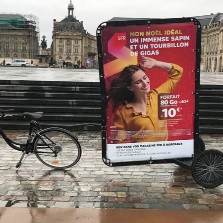 Bike'Com pour SFR avec Keemia Bordeaux agence locale de référence en région aquitaine
