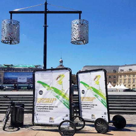 Opération d'Affichage Mobile -keemia Bordeaux agence marketing locale en région Aquitaine