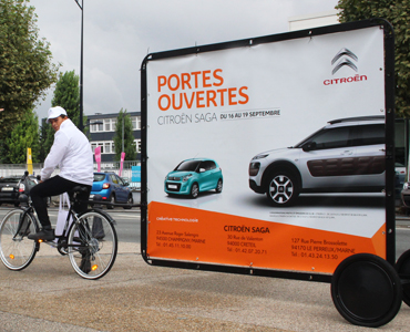 Des Bike'Com pour Citroën - Keemia Communication OOH - Agence conseil et opérationnelle, Hors média & Solutions OOH
