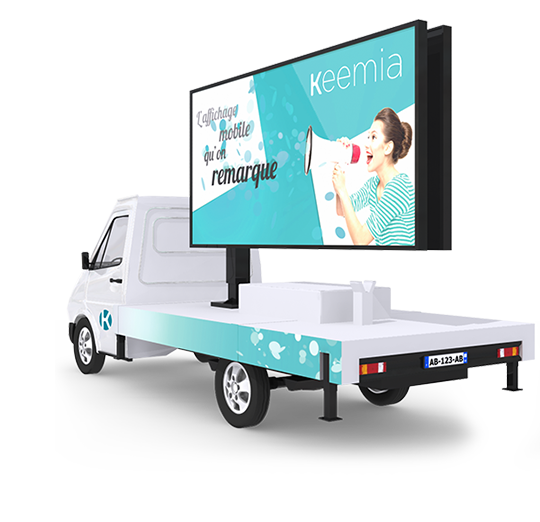 Camion Affi'led, l'affichage mobile digital - Keemia communication OOH et hors media
