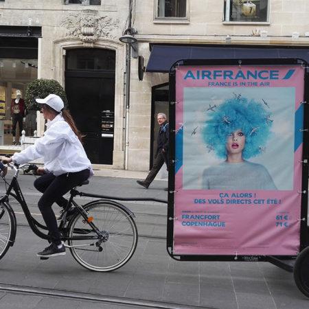Air France en Bike'Com - Keemia Communication OOH - Agence conseil et opérationnelle, Hors média & Solutions OOH