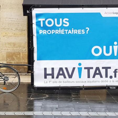 Havitat en XXL à Bordeaux - Keemia Communication OOH - Agence conseil et opérationnelle, Hors média & Solutions OOH