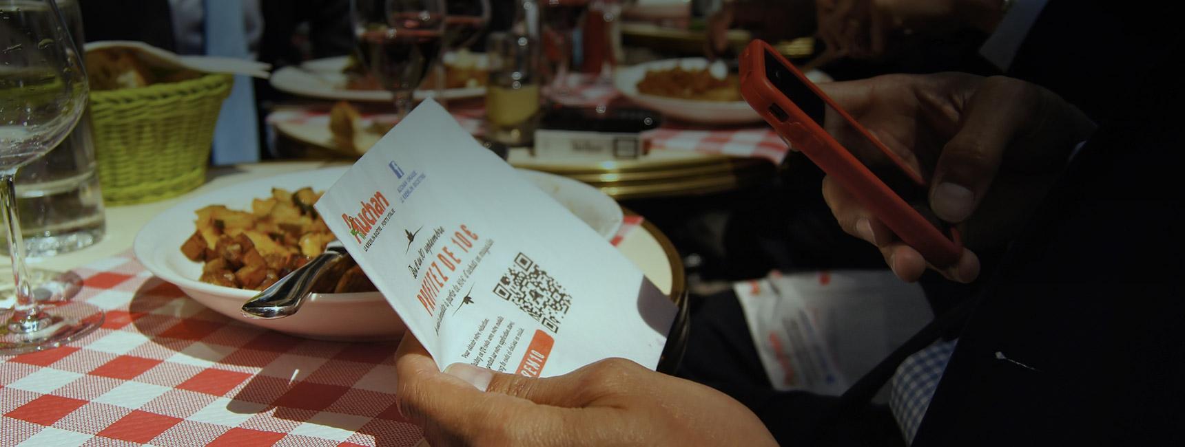Serviette de table publicitaire, support tactique - Keemia Communication OOH et hors-media