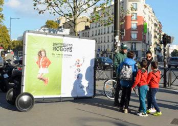 unexpected affichage mobile agence keemia paris