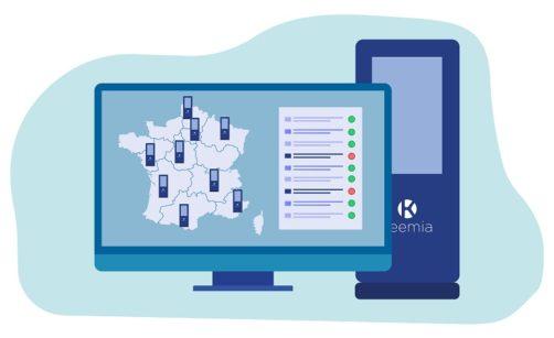 Maintenance et monitoring temps réel - Nos bornes - Keemia Digital - Activation digital factory