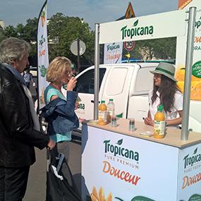 Roadshow et dégustation Tropicana - Keemia Event et Expérience Agence événementielle et roadshow