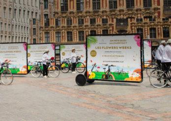 Barrière bikecom affichage mobile Keemia Lille Agence marketing local en région Nord