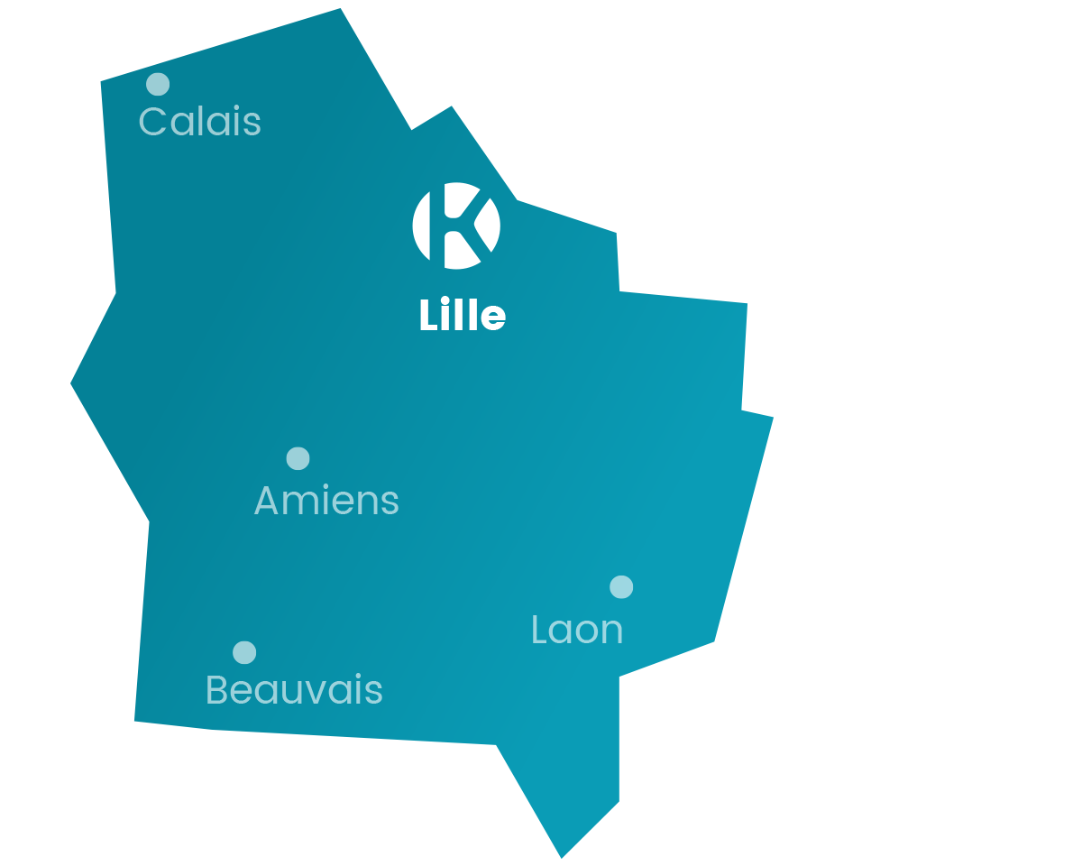 Carte du réseau Keemia Lille Keemia, l'opérateur full marketing - Keemia Lille Agence marketing local en région Nord