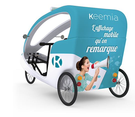 Gumba vélo taxi - Affichage mobile - Keemia Lille Agence marketing local en région Nord