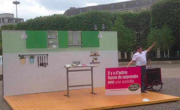 Perle du nord street marketing Keemia Lille Agence marketing local en région Nord