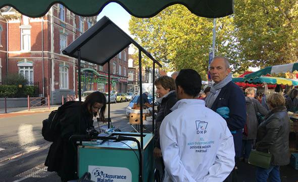 solutions interactives en triporteur cpam keemia agence marketing locale en région hauts de france