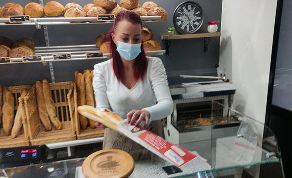 Media tactique sac à pain - Keemia Lille agence marketing locale en région Nord et Hauts de France