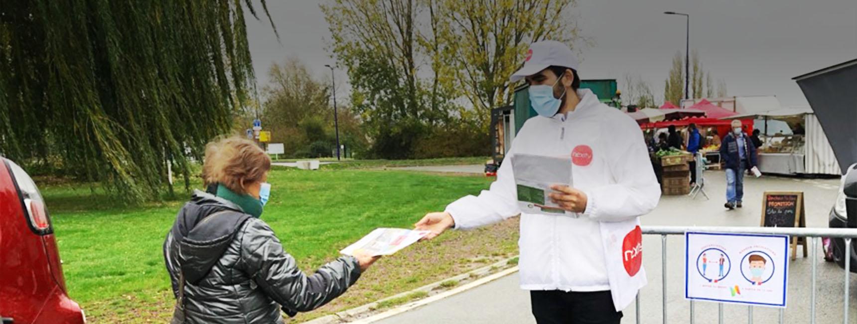 Street Marketing et dépôt boites au lettre pour Nexity avec Keemia Lille agence de marketing de référence en région Nord