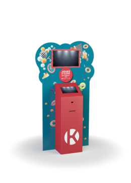 Borne interactive PLV duo 22 - Keemia Lille - Agence de Marketing Locale en région Hauts de France