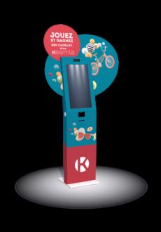 Borne interactive weezy 27 - Keemia Lille - Agence de Marketing Locale en région Hauts de France