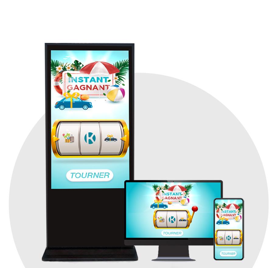Bornes de jeux interactives - Keemia Lille - Agence de Marketing Locale en région Hauts de France
