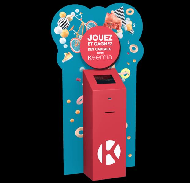 PLV digitale borne - Keemia Lille - Agence de Marketing Locale en région Hauts de France