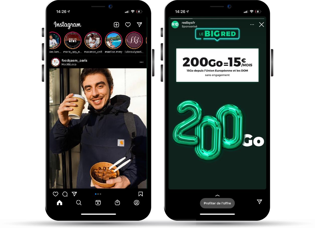 Publicité story Social media - Keemia Lille - Agence de Marketing Locale en région Hauts de France