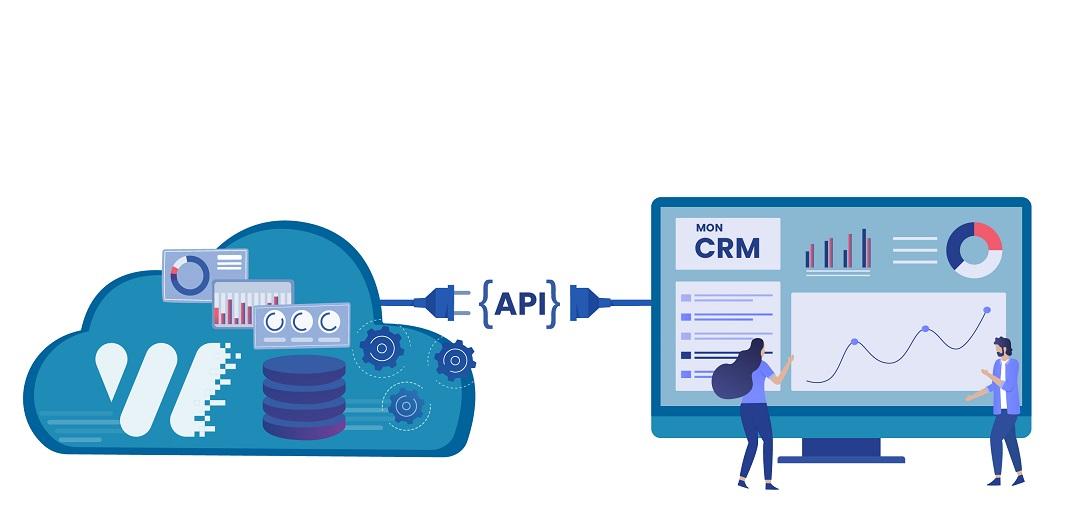 Connectez votre CRM avec nos API - Platforme de marketing digital Weezio - Keemia Lille - Agence de Marketing Locale en région Hauts de France