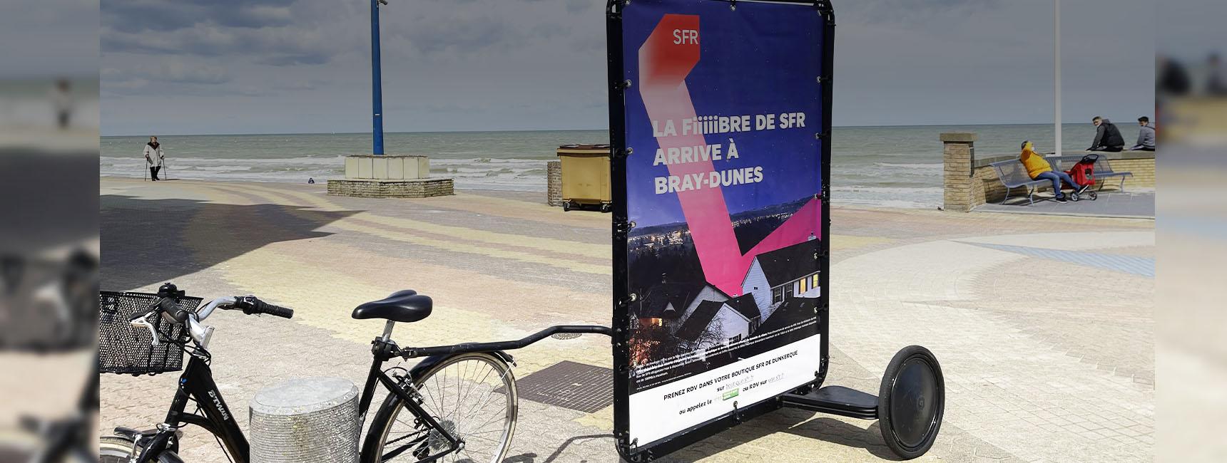 Street marketing Bike'Com - Keemia Lille agence marketing région Hauts de France