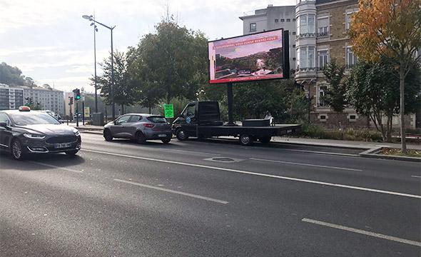 Diagonale street marketing affichage mobile Keemia Lyon Agence marketing local en région Rhônes Alpes