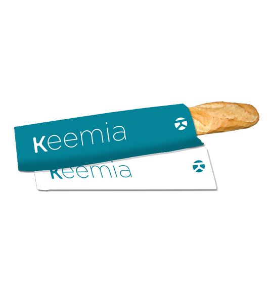 Sac à baguette publicitaire - Keemia Lyon Agence marketing local en région Rhône-Alpes