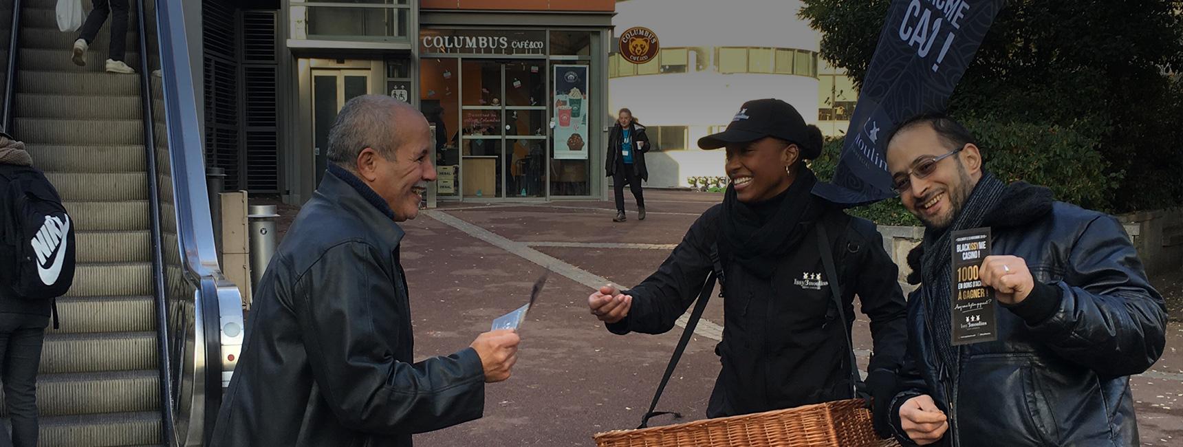 Eurydice street marketing Keemia Lyon Agence marketing local en région Rhônes Alpes