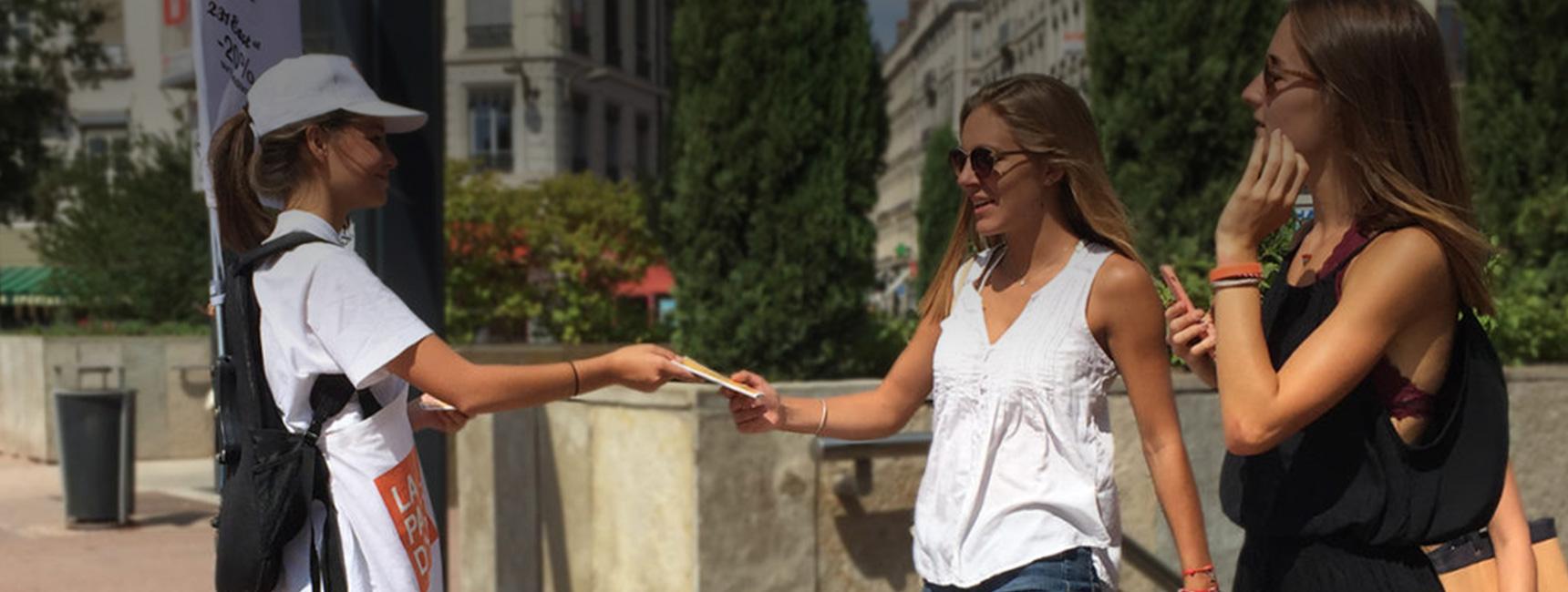 La Part Dieu Street Marketing Diffusion Keemia Lyon Agence marketing local en région Rhônes Alpes