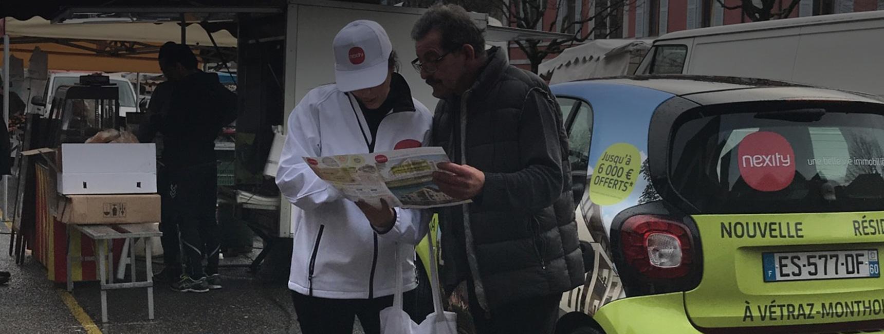 Nexity Affichage mobile street marketing Keemia Lyon Agence marketing local en région Rhônes Alpes
