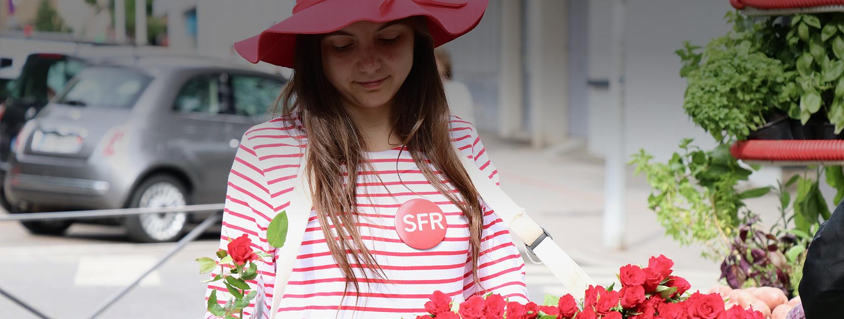 SFR street marketing Keemia Lyon Agence marketing local en région Rhônes Alpes