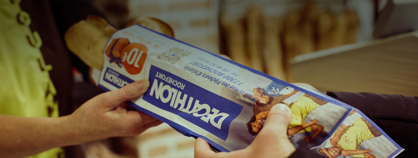 Sac à pain : le média de proximité par excellence - Média tactique - Keemia Lyon Agence marketing local en région Rhône-Alpes