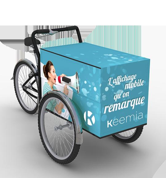 Triporteur - Keemia Lyon Agence marketing local en région Rhône-Alpes