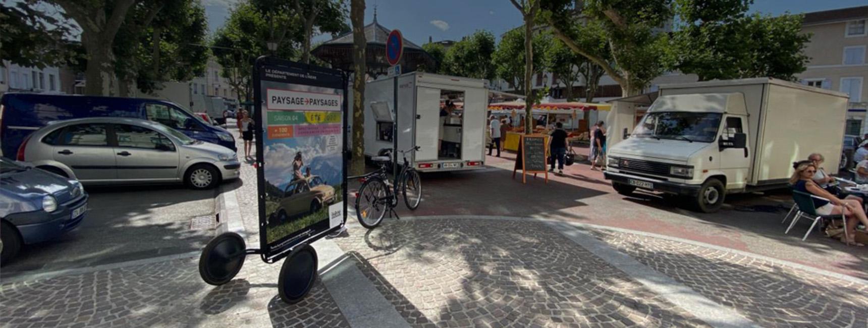 affichage mobile bike com departement isere keemia lyon agence marketing locale en region rhone alpes