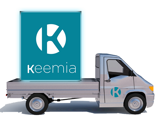 Affi'Led Camion mobile publicitaire - Affichage mobile - Keemia Lyon Agence marketing local en région Rhône-Alpes