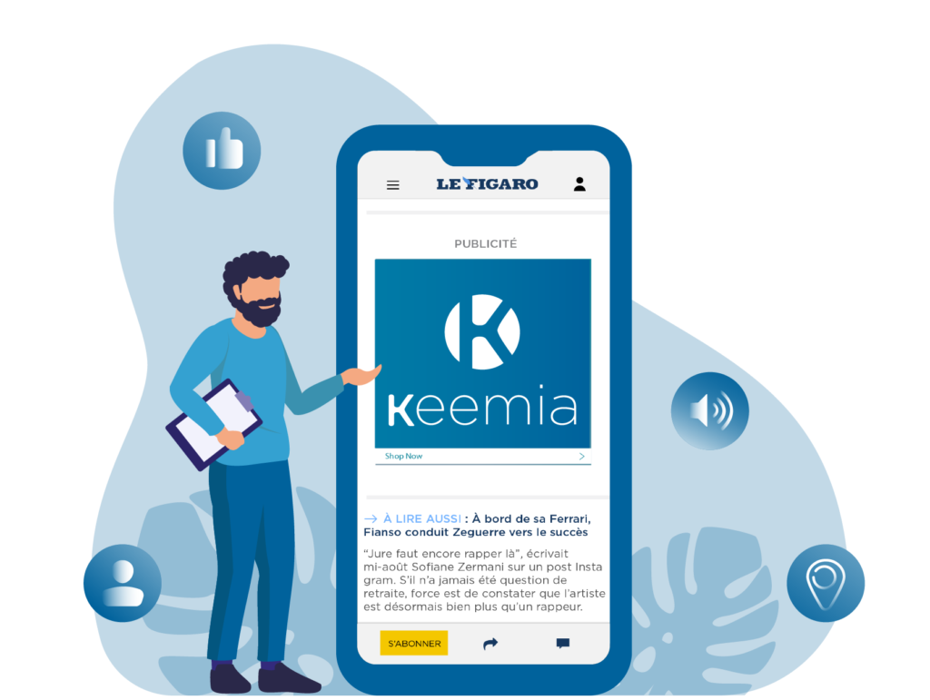 Display mobile - Keemia Lyon agence de marketing locale en région Rhône Alpes