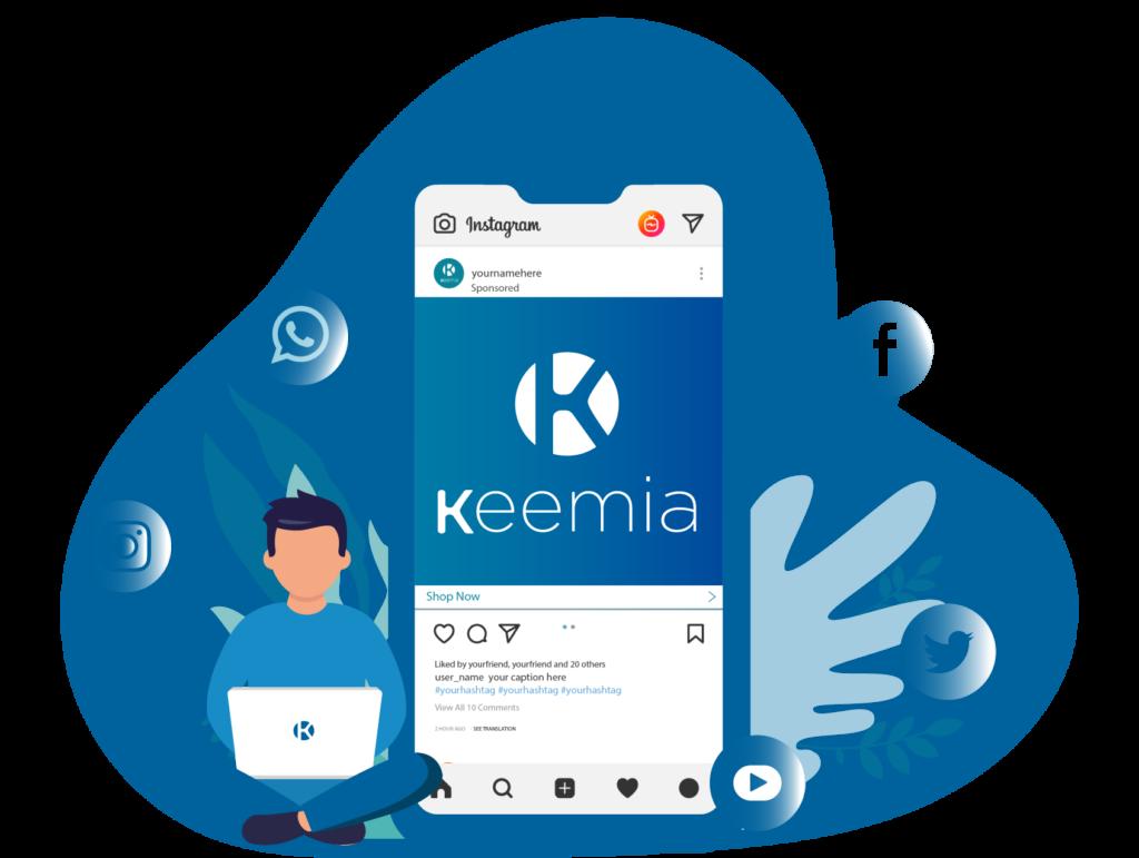 Social Media - Keemia Lyon agence de marketing locale en région Rhône Alpes