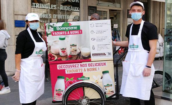 Operation de street-marketing - Keemia Lyon agence marketing locale région rhones alpes