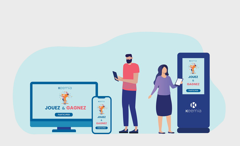 Disponible en mode web et bornes - Keemia Lyon agence de marketing locale en région Rhône Alpes