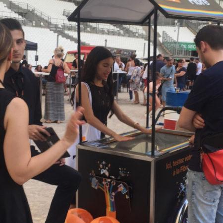 Orange - street marketing - affichage mobile - Keemia agence marketing local à Marseille