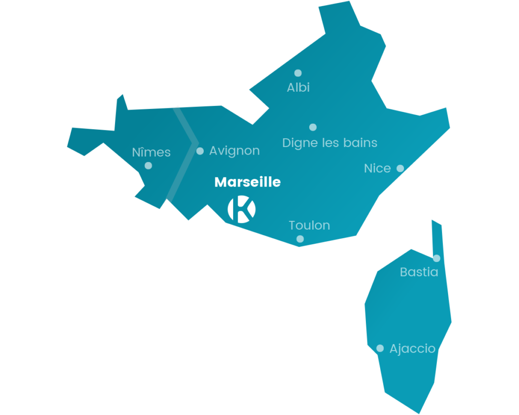 Carte Keemia Marseille Agence marketing local en région PACA