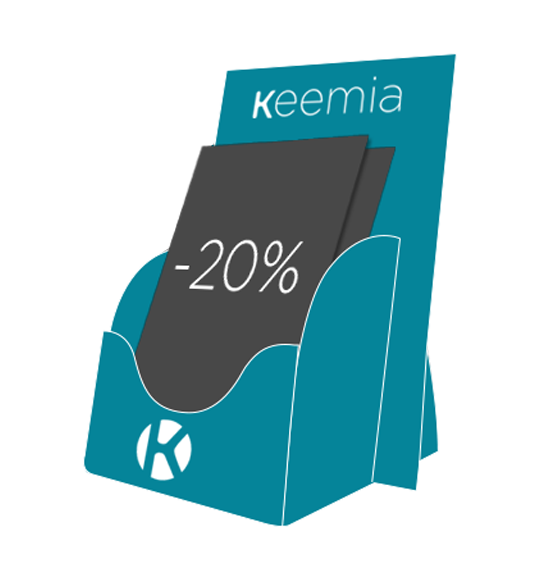 PLV de comptoir - Média tactique - Keemia Marseille Agence marketing local en région PACA