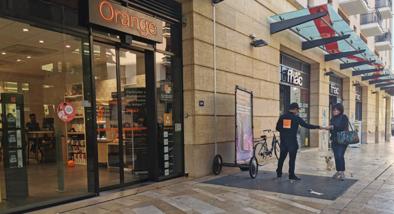 affichage mobile orange keemia agence marketing locale en région paca