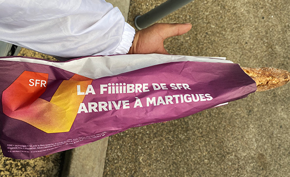 Distribution Dépôt et Street Marketing pour SFR avec Keemia Marseille agence locale de référence en région PACA