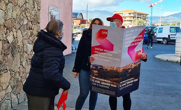 SFR street marketing- ouverture magasin - Keemia Marseille agence Marketing en région PACA