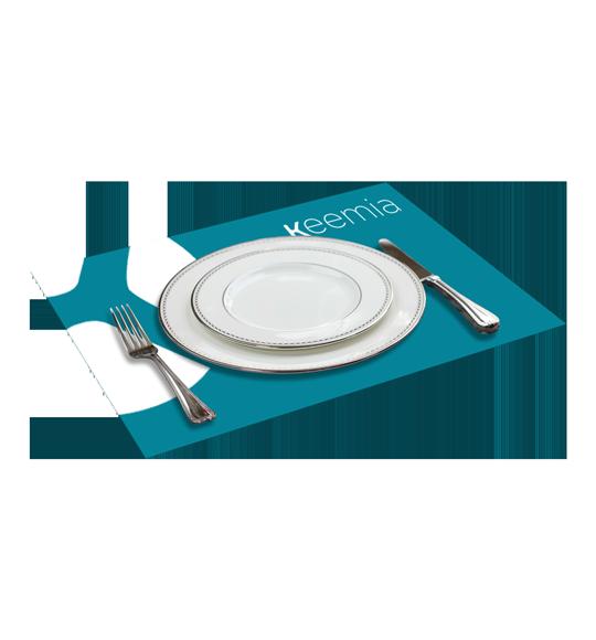 Sets de table publicitaires - Keemia Nantes Agence marketing local en région Atlantique