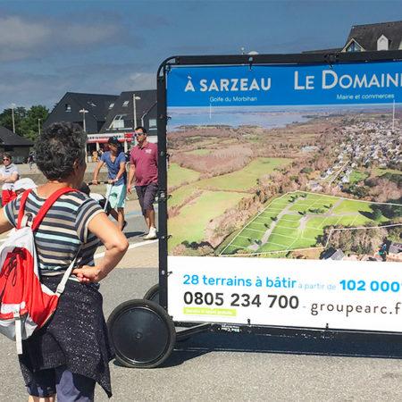 Arc Immo support tactique affichage mobile Keemia Nantes Agence marketing local en région Atlantique